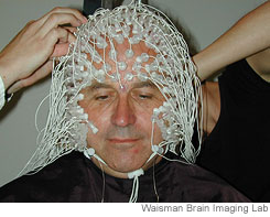 Mattieu Ricard getting his EEG